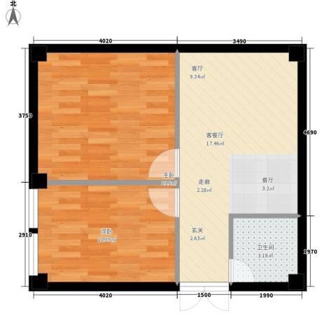 紫御尚都2室1厅1卫0厨50.00㎡户型图