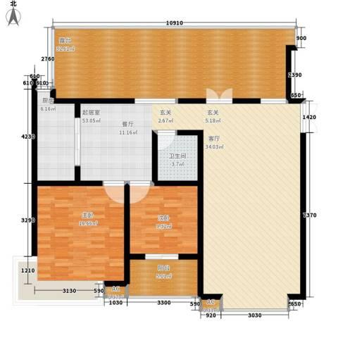 天江格调花园2室0厅1卫1厨127.20㎡户型图