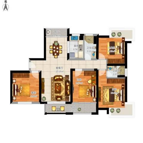 新世纪颐龙湾4室1厅2卫1厨121.00㎡户型图