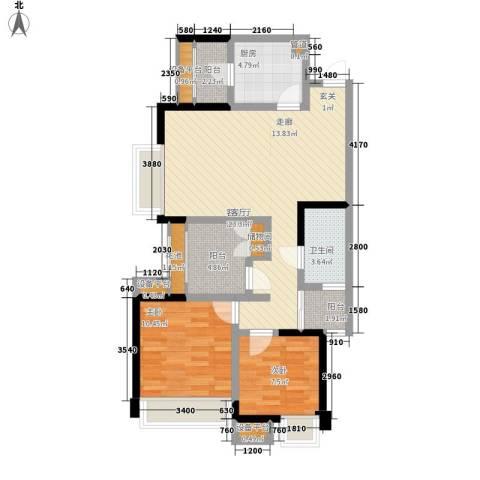ICON尚郡2室1厅1卫1厨88.00㎡户型图