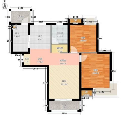 东壹区2室0厅1卫1厨86.23㎡户型图