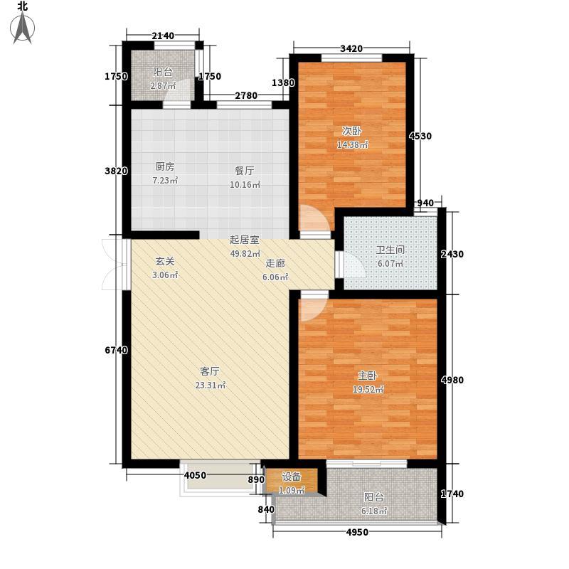 华夏津典112.28㎡一期标准层B4户面积11228m户型