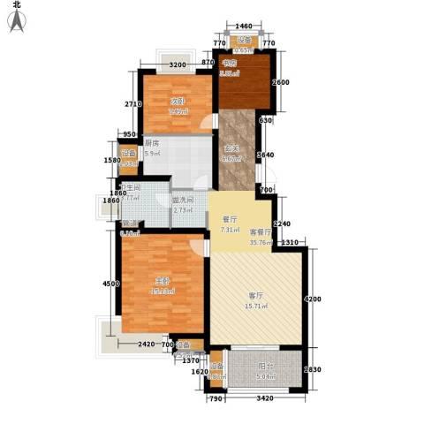 旭辉朗悦庭2室1厅1卫1厨89.00㎡户型图