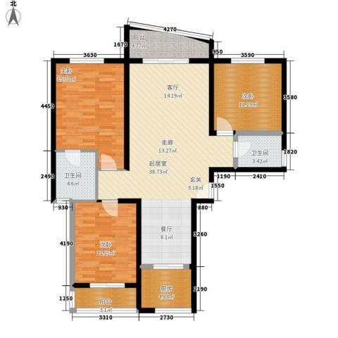 航天新都3室0厅2卫1厨141.00㎡户型图