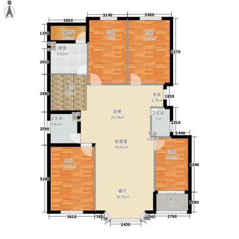 工商局家属院4室0厅2卫1厨155.00㎡户型图