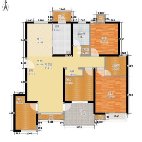 友联二村4室0厅2卫1厨168.00㎡户型图