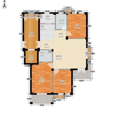 恒裕星座3室0厅2卫1厨132.00㎡户型图