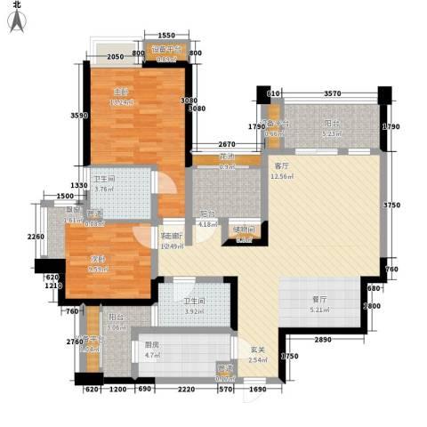 ICON尚郡2室1厅2卫1厨109.00㎡户型图
