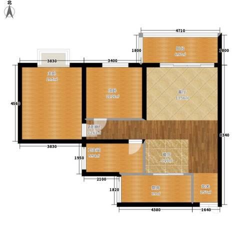 汉口春天2室0厅1卫1厨112.00㎡户型图