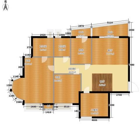 汉水熙园3室0厅2卫1厨184.00㎡户型图