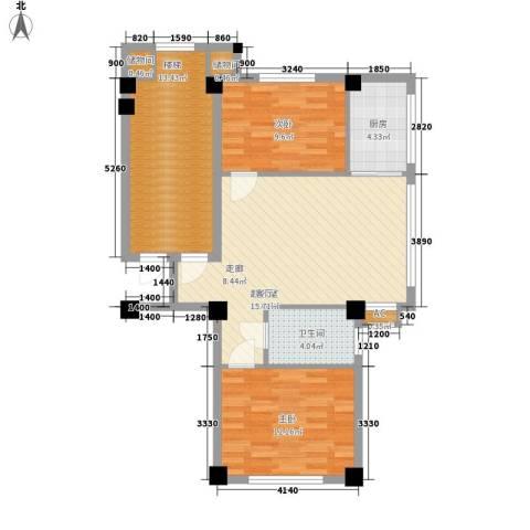 御鑫源2室0厅1卫1厨98.00㎡户型图