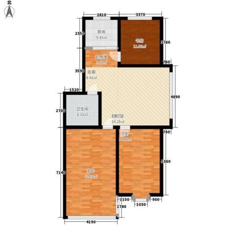 山海顺沁苑3室0厅1卫1厨110.00㎡户型图