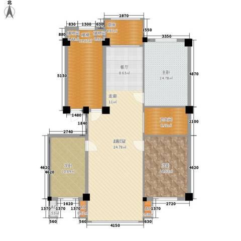 御鑫源3室0厅1卫1厨154.00㎡户型图
