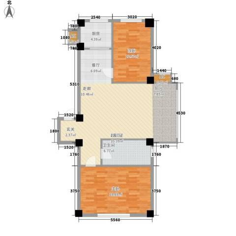 御鑫源2室0厅1卫1厨119.00㎡户型图