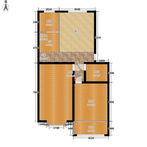 山海顺沁苑2室0厅0卫1厨110.00㎡户型图