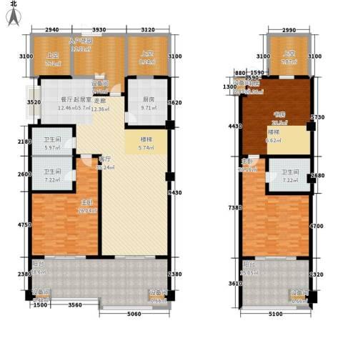 中信太湖城3室0厅3卫1厨290.00㎡户型图