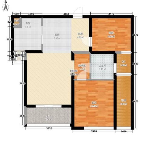 汉水熙园2室0厅1卫1厨106.00㎡户型图