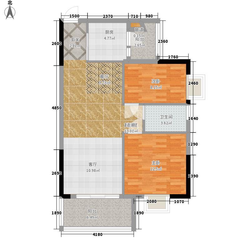 保利林海山庄78.05㎡依林苑2-3栋面积7805m户型
