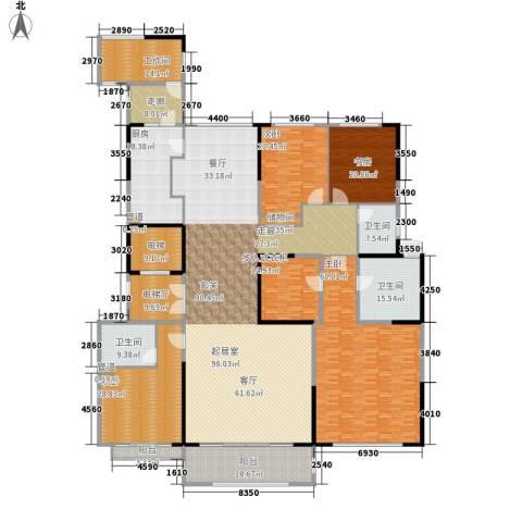 中海紫御豪庭4室0厅3卫1厨292.00㎡户型图
