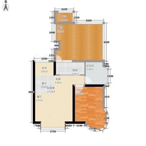 天江格调花园1室0厅1卫1厨72.52㎡户型图