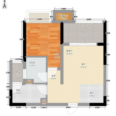 ICON尚郡1室1厅1卫1厨59.00㎡户型图