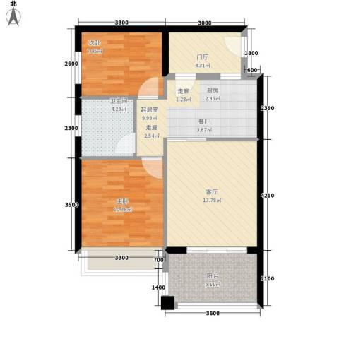 万泉明珠2室1厅1卫0厨80.00㎡户型图