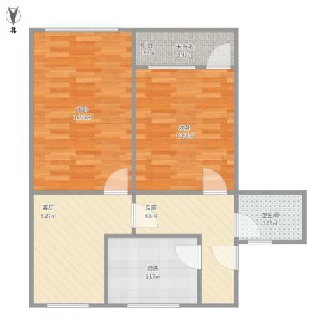 温宿路67弄2室1厅1卫1厨78.00㎡户型图