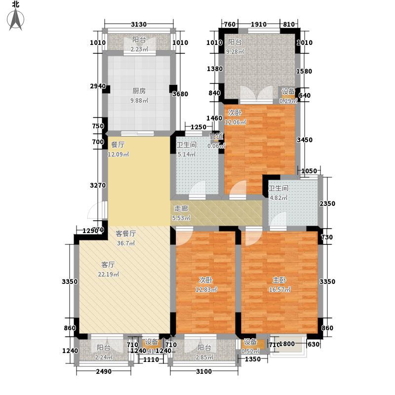 俊城橡树原洋房16号楼 l22'户型