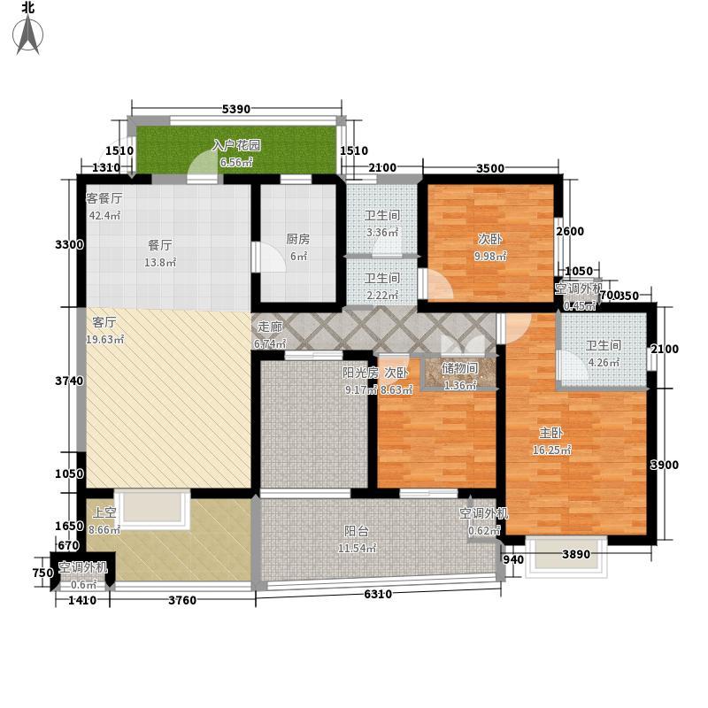 中环西岸观邸143.77㎡B-6型奇数层面积14377m户型