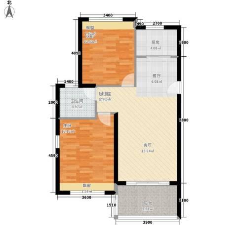 万泉明珠2室0厅1卫1厨91.00㎡户型图