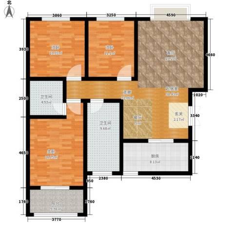 融基湖光山色3室0厅2卫1厨123.00㎡户型图
