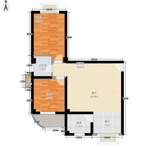 三和公寓2室0厅1卫1厨94.00㎡户型图