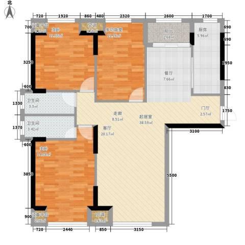 三和公寓2室0厅2卫1厨132.00㎡户型图