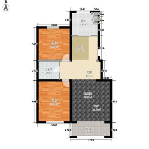 半山居2室0厅1卫1厨127.00㎡户型图