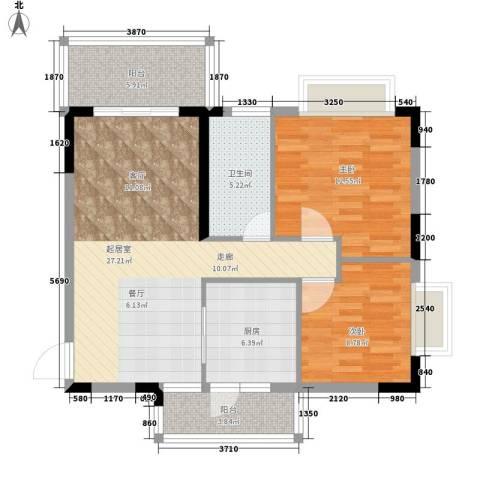 大信海岸家园2室0厅1卫1厨99.00㎡户型图