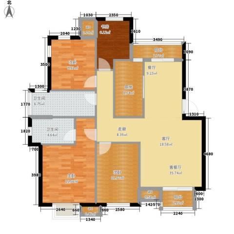 宁波商会大厦4室1厅2卫1厨145.00㎡户型图