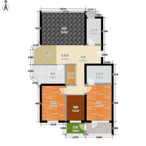 仁泰旅游度假花园3室0厅2卫1厨126.00㎡户型图