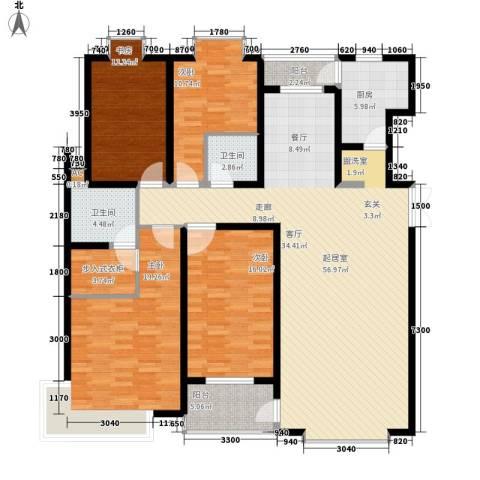 天江格调花园4室0厅2卫1厨179.00㎡户型图