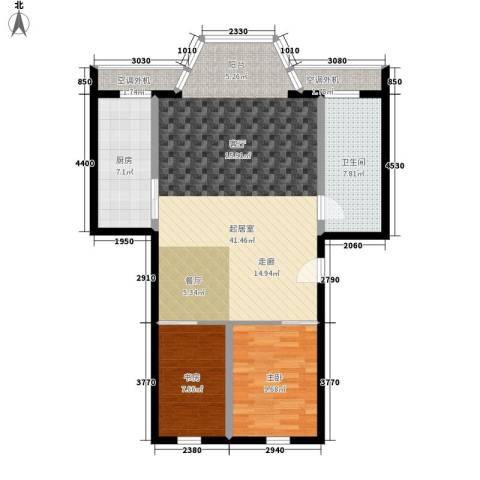 仁泰旅游度假花园2室0厅1卫1厨84.00㎡户型图