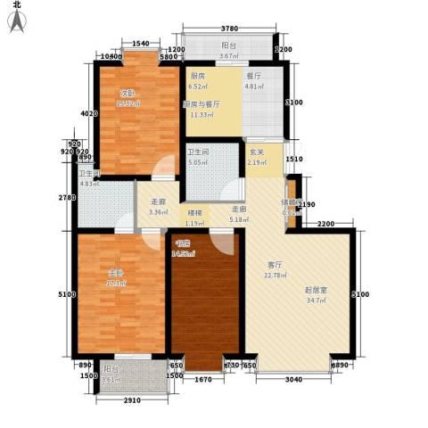 天江格调花园3室0厅2卫0厨149.00㎡户型图