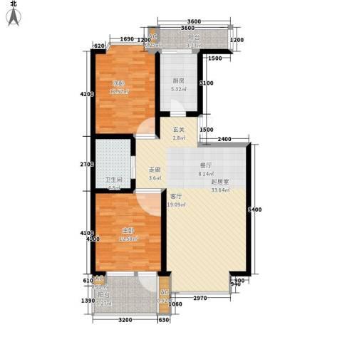 天江格调花园2室0厅1卫1厨106.00㎡户型图