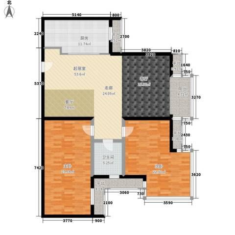 仁泰旅游度假花园2室0厅1卫1厨130.00㎡户型图