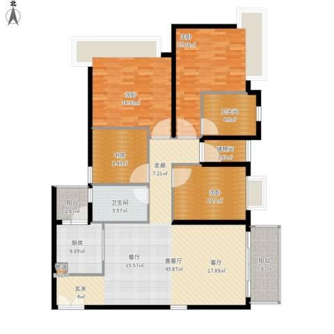 天韵瑚璟4室1厅2卫1厨175.00㎡户型图