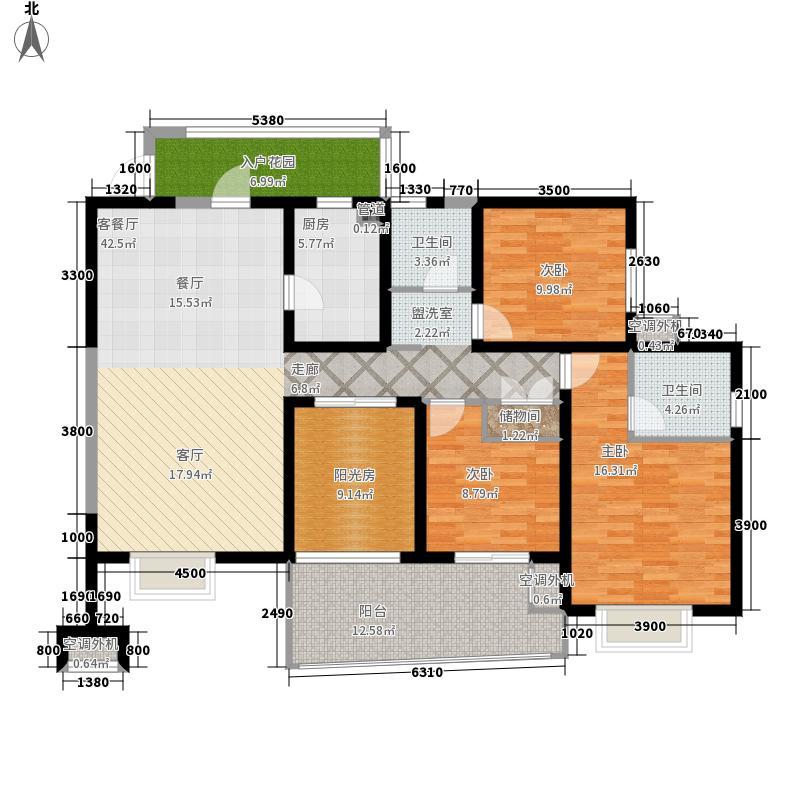 中环西岸观邸143.77㎡一期一批2栋面积14377m户型