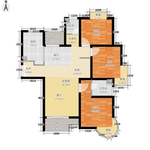 盛世宝邸3室0厅2卫1厨121.00㎡户型图