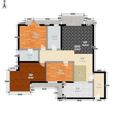 仁泰旅游度假花园3室0厅2卫1厨145.00㎡户型图