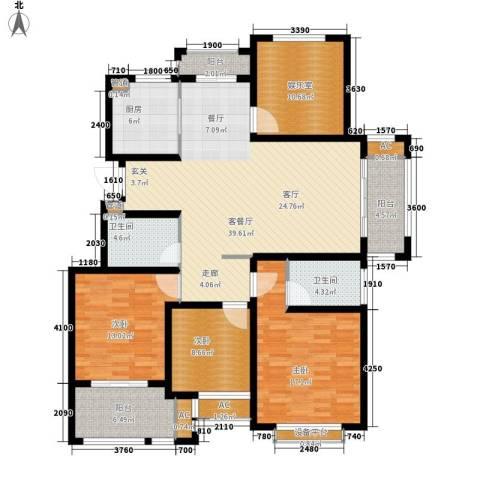 太湖相王府3室1厅2卫1厨138.00㎡户型图