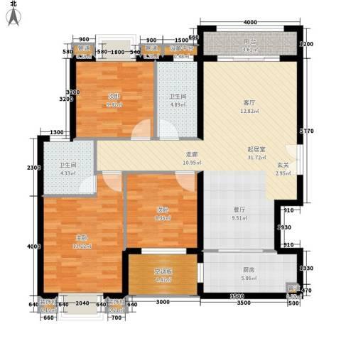 汉城壹号3室0厅2卫1厨117.00㎡户型图