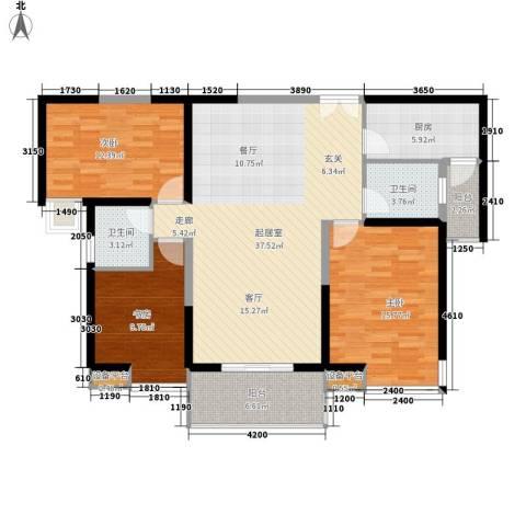 中海东郡3室0厅2卫1厨139.00㎡户型图