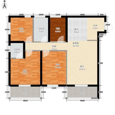 达成馨苑4室0厅2卫0厨124.00㎡户型图